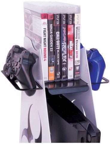 Multi Games Suporte de Parede para Vídeo-Games e Acessórios - Branco/Preto