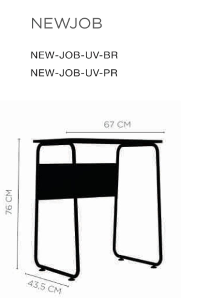New Job Mesa Multiuso compacta estrutura em aço carbono, pés