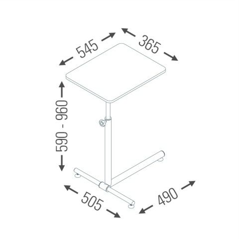 NT HOME Mesa para Notebook C/Regulagem de Altura; Inclinação e Giro (pé nivelador E  tampo MDF) Pret