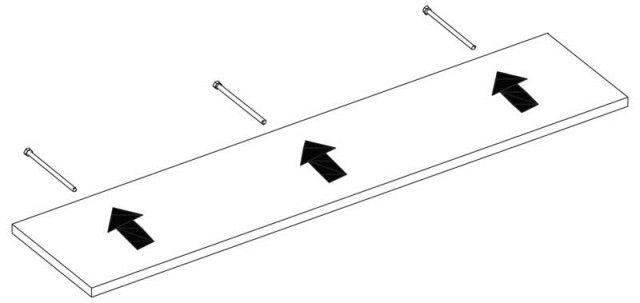 Prateleira Flutuante em MDP 10x60 cms com suporte incluso PBS 1060