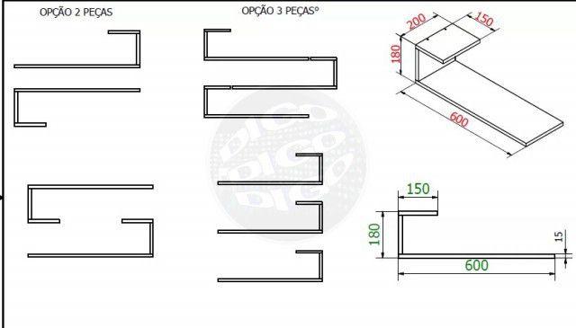 Prateleira/Nicho Flutuante 60x20 cms com suporte incluso  Decore PBS J