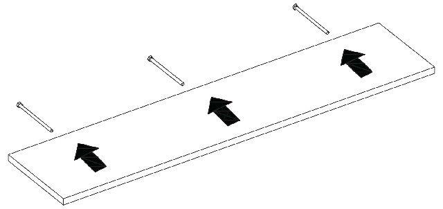 Porta Quadros Flutuante 10x40 cms com suporte incluso PQ 1040