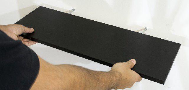 Prateleira Flutuante 25x120 cms com suporte incluso PBS PLUS 25120