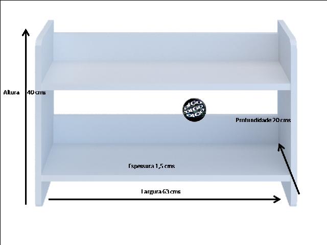 Prateleira Flutuante Multiuso com suporte incluso Decore Kit Cozinha