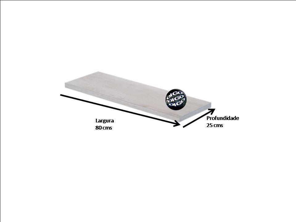 Prateleira 25x80 cms com suporte incluso DECORE CLIP 2580