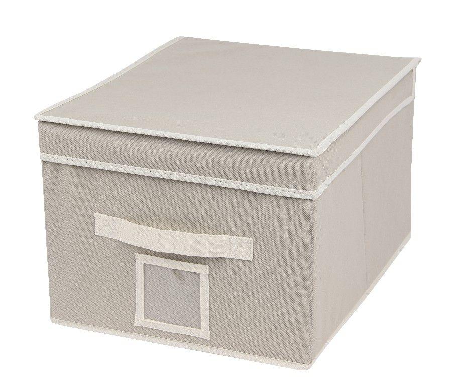 SO 00216 Caixa Organizadora 32X32X32 cms cor bege