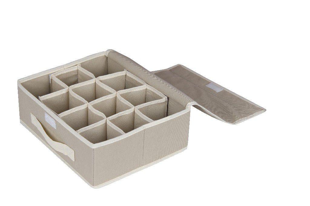 SO 00217 Caixa Organizadora 28X23X10 cms cor bege