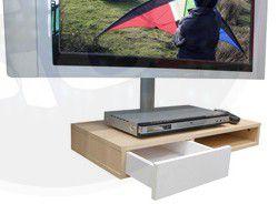 SDVD 500 BRA/MAP Nicho com gaveta para DVD ou acessórios  COR: MAPLE/BRANCO