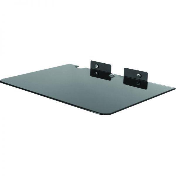 SDVD 804 Suporte para Blu-Ray/DVD/Acessórios - (LxP: 300x250mm - Vidro temperado 5mm) Preto