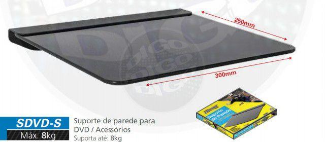 SDVD S Suporte para Blu-Ray/DVD/Acessórios - (LxP: 300x250mm - Vidro temperado 5mm)