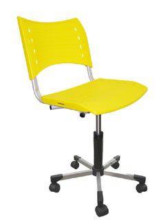 SIGMA Cadeira plástica colorida com rodíziO
