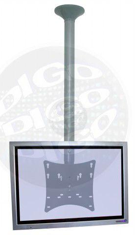 """SKY 200 M PRE Suporte de Teto para TV LCD/LED de 19"""" a 40"""" (Ajuste de altura de 480 a 750mm) - Prata"""