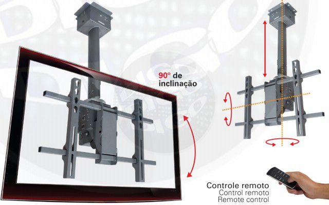 SKY MOTION Suporte de Teto Automatizado para TV LCD/Plasma/LED de 32'' a 42'' - Prata