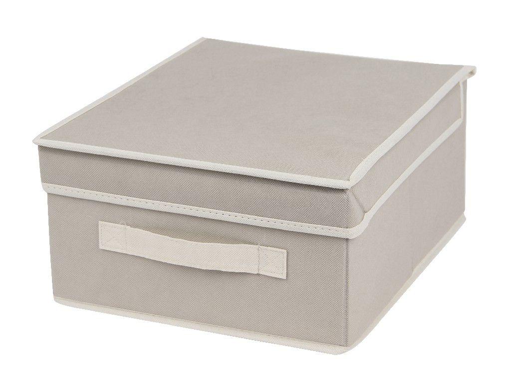 SO 00209 Caixa Organizadora 28x33X15 cms cor bege