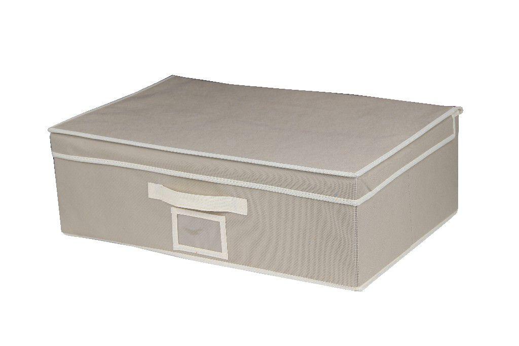 SO 00212 Caixa Organizadora 56X38X18 cms cor bege