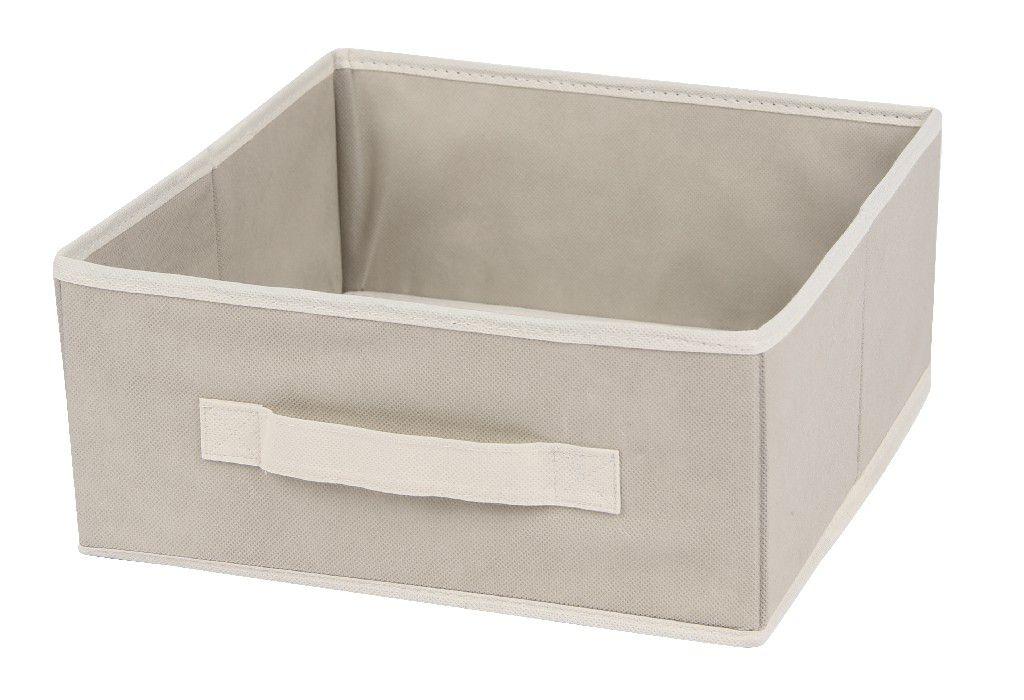 SO 00222 Caixa Organizadora 28x28x12,5cms cor bege