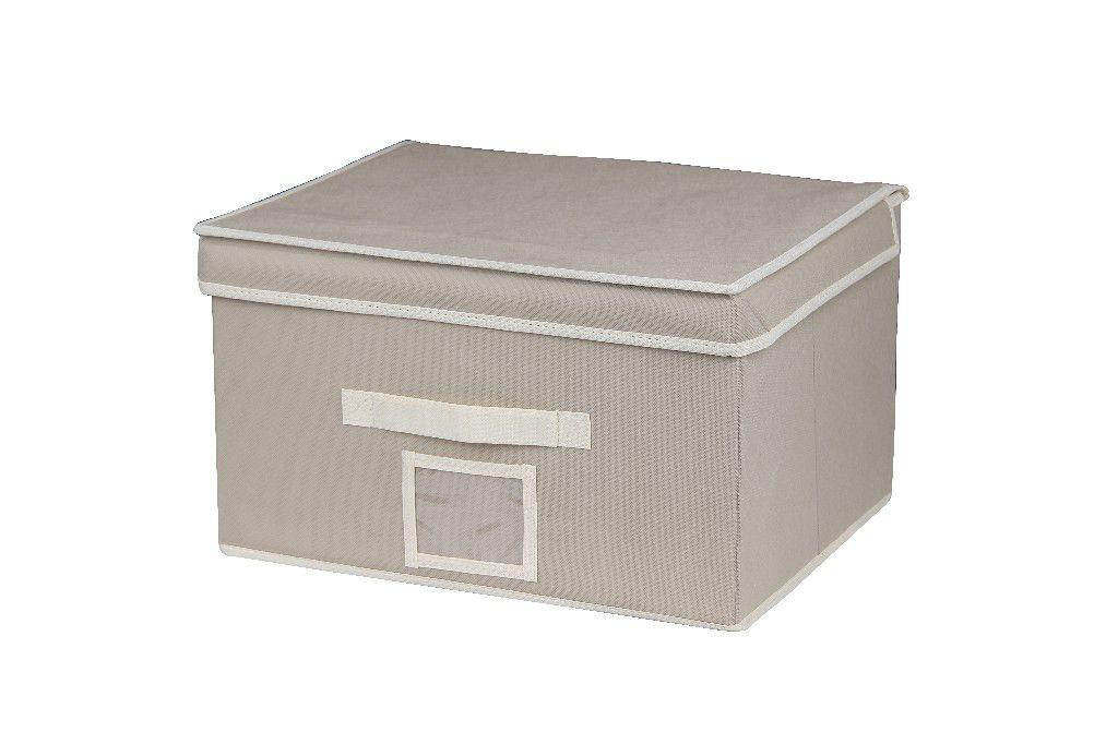 SO 00215 Caixa Organizadora 40X32X24 cms cor bege