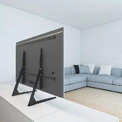 Stand 100 Base para tv com ajuste de altura - suporte de mesal para tv ate 65 pol