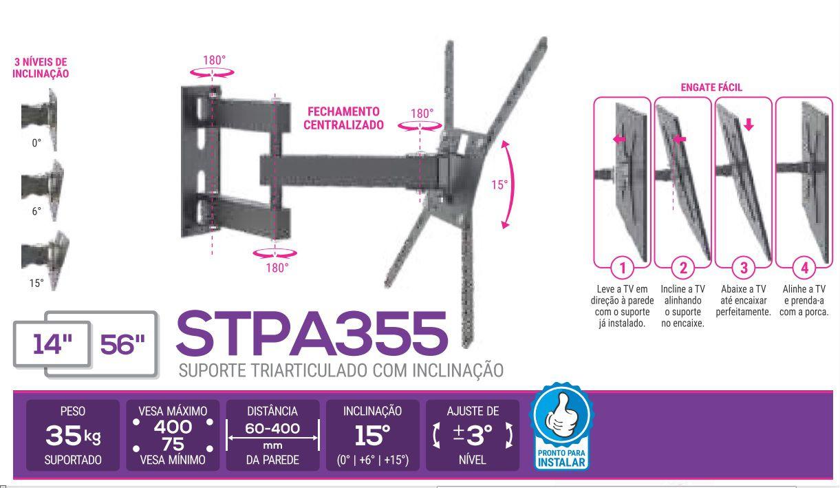 STPA 355 Suporte Pra Tvs De Ate 56 Pol Articulado