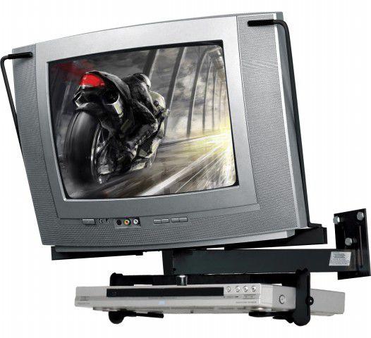 """STV 10 Suporte para TV CRT de 14"""" a 21"""" + Suporte DVD"""