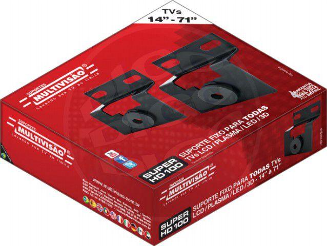 Super HD 100 Suporte Articulado com inclinação para TV LCD/LED 14 A 56 Pol