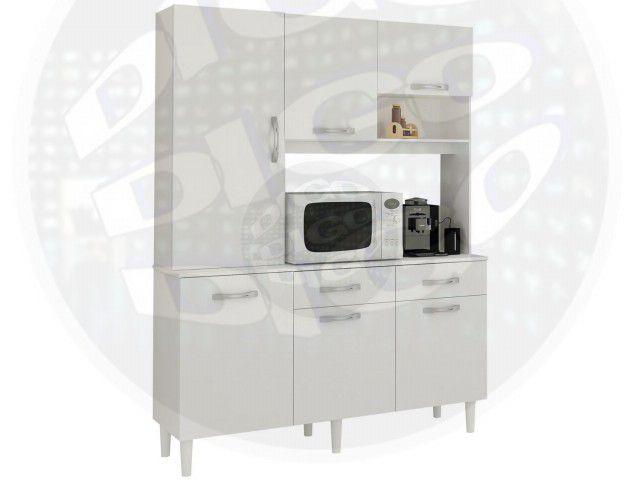 """THALITA Kit de Cozinha C/06 Portas e 02 Gavetas em MDP 15mm C/Pintura Verniz """"UV""""-"""