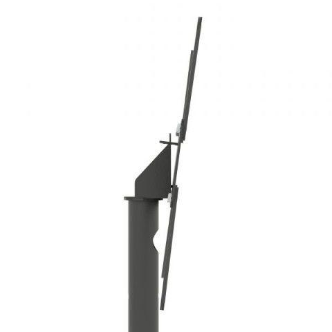 UNI PRO T 1 com rodizios Pedestal de chão para TV tela plana 56 pol 1200 a 1800 cms PRETO