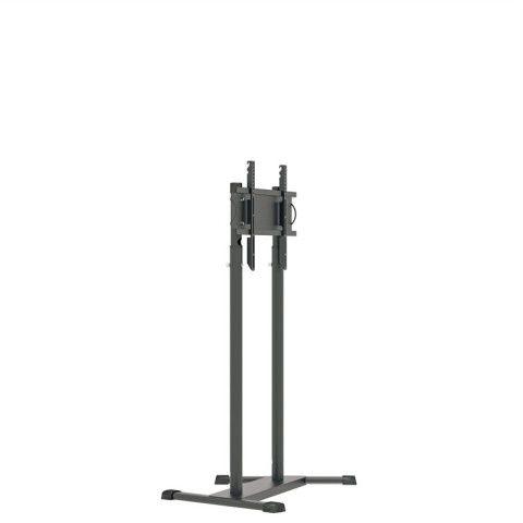 UNI PRO T 2  Pedestal de chão para TV tela plana 56 pol 1200 a 1800 cms PRETO