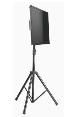 UNI PRO Tripe Pedestal de chão para TV tela plana 70 pol 1240 a 1880 cms PRETO