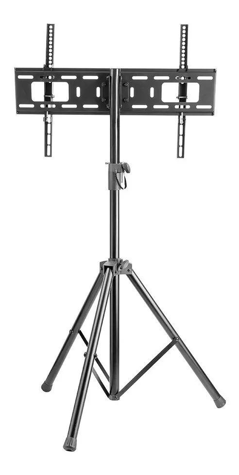 """UNI-TRIPE PEDESTAL TRIPE com ajuste de altura e inclinação p/tv de 37"""" a 70"""" - preto Ajuste de altura de: 1240mm até 1880 mm"""