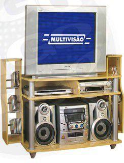 """Unike RACK COM PORTA CDS/DVDS PARA TVs até 29"""""""