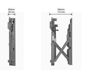 VIDEO WALL POP OUT Suporte de Parede para Monitor LFD 37 A 70 POL - uso Profissional - Preto