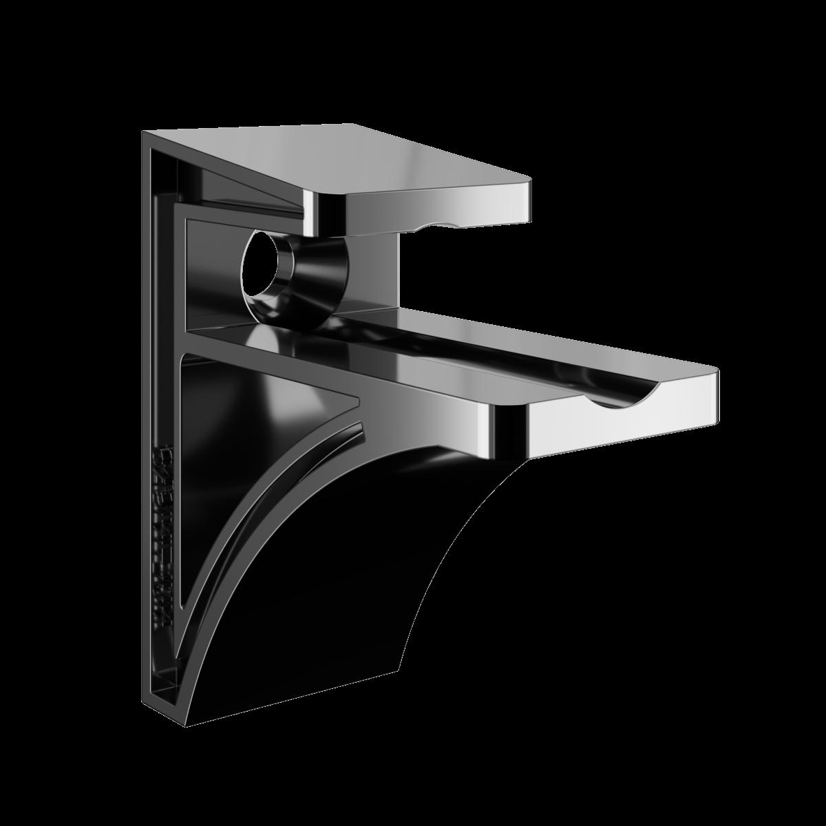VIDRIO-R1540-INC Prateleira de vidro incolor de 8mm com suportes para fixação.