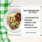 Picadinho de Patinho + Arroz com brócolis + Couve Flor