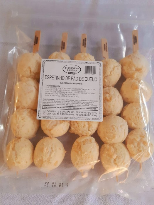 Espetinho de Pão de Queijo - pack com 5