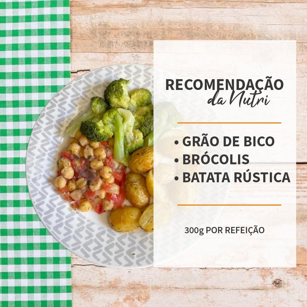 Grão de bico + Batata rústica + Brócolis