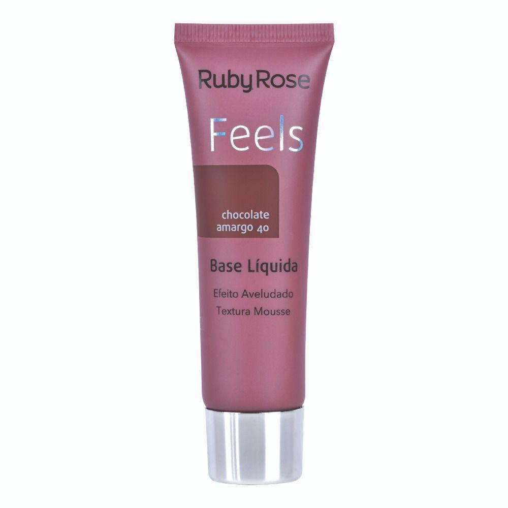 Base líquida Matte Feels Chocolate Amargo 40 - Ruby Rose