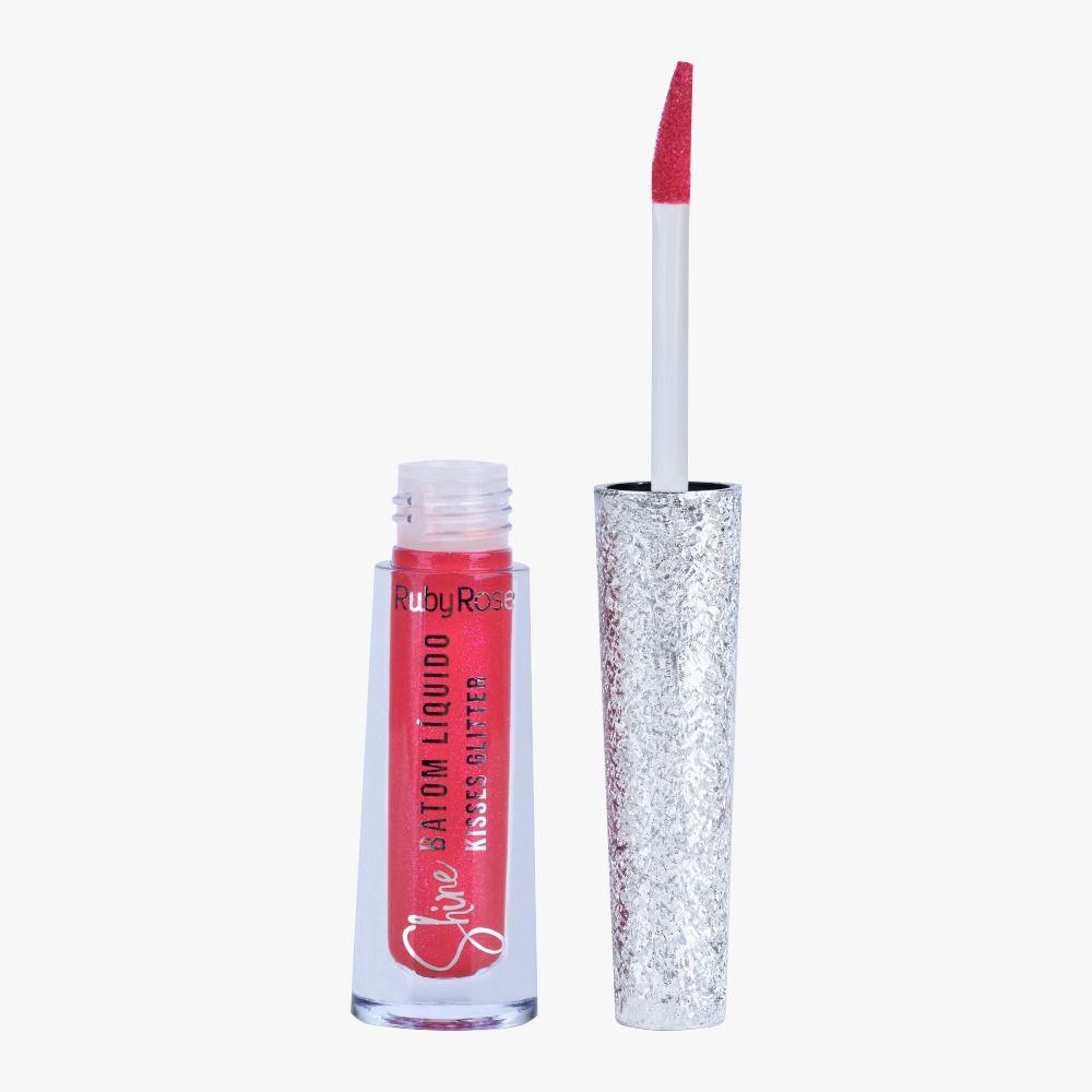 Batom Liquido Shine Kisses Glitter 355