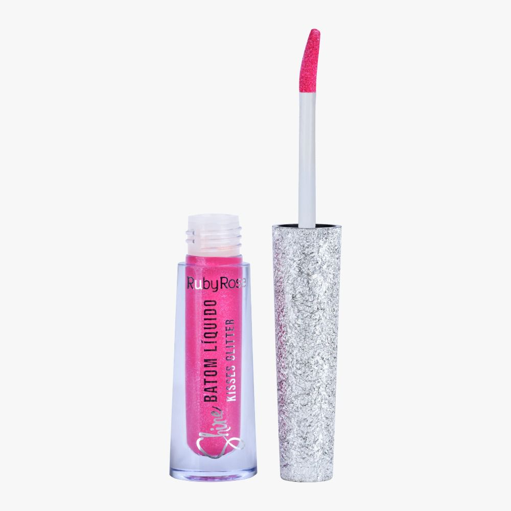 Batom Liquido Shine Kisses Glitter 357