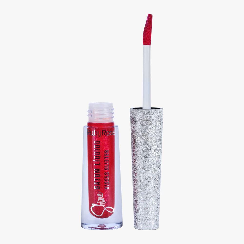 Batom Liquido Shine Kisses Glitter 359