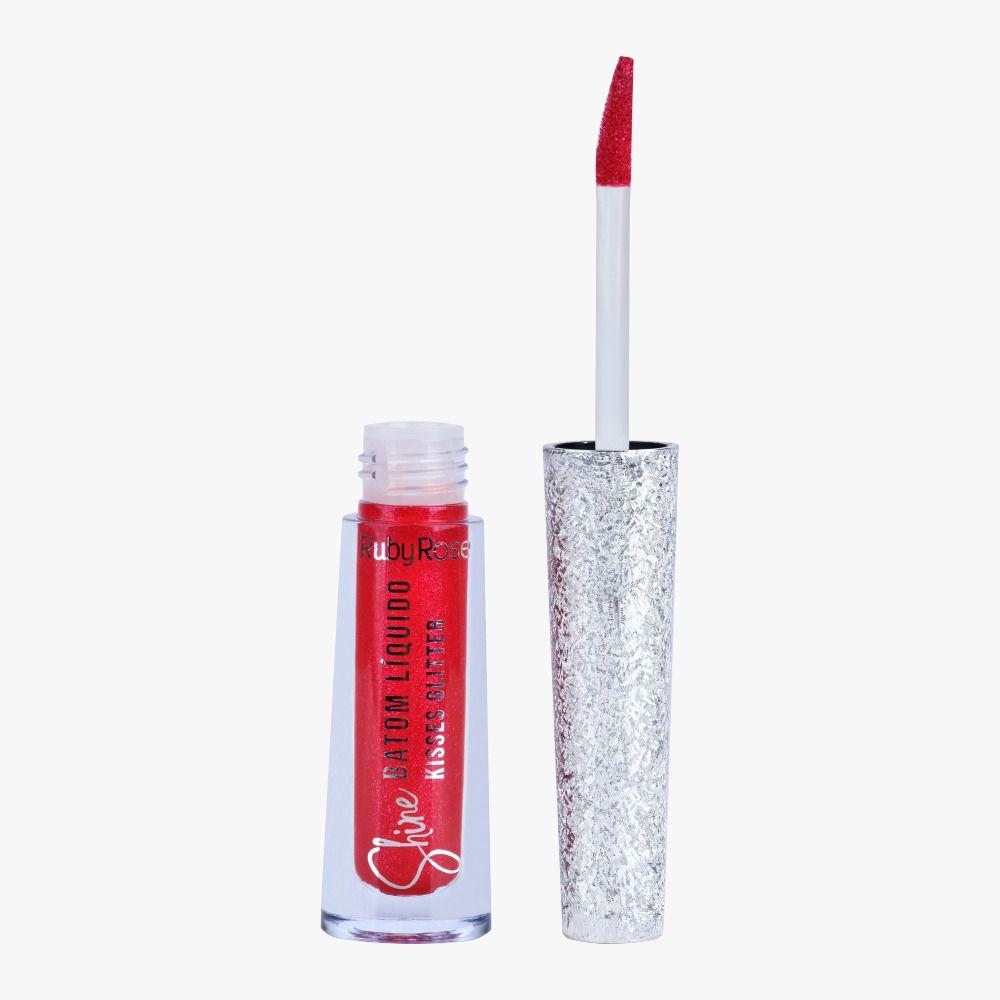 Batom Liquido Shine Kisses Glitter 369