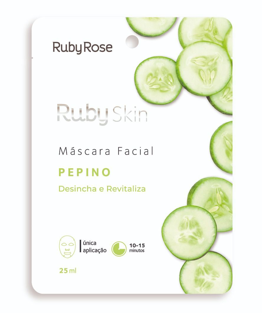 Máscara Facial de Tecido Pepino - Ruby Rose