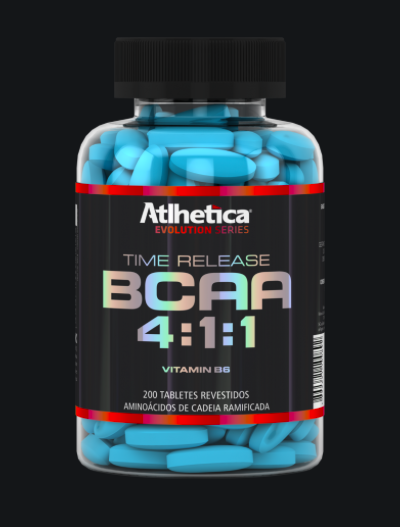 BCAA Time Release 4:1:1 - 200 Tabletes - Atlhetica Nutrition