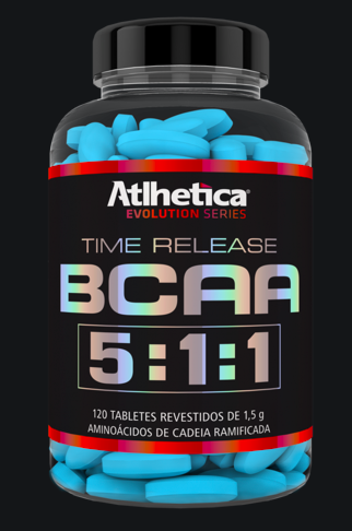 BCAA Time Release 5:1:1 1,5g - 120 Tabletes - Atlhetica Nutrition