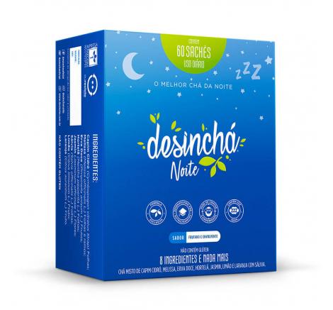 Desinchá Noite - 60 Sachês - Desinchá
