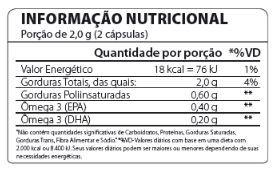 Omega 3 Fish Oil 1000mg - 120 cap - Atlhetica Nutrition