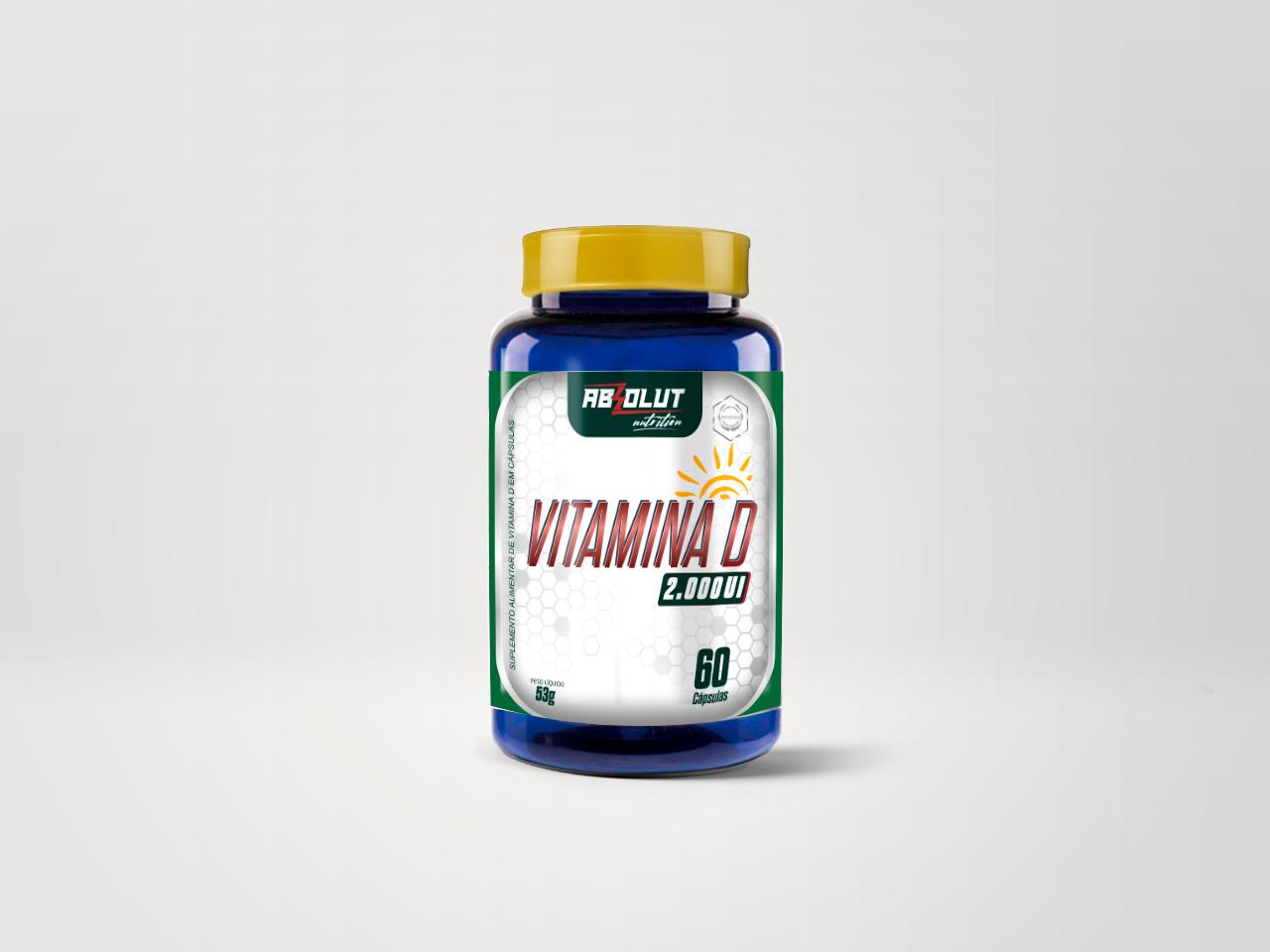 Vitamina D - 60 caps - Absolut Nutrition