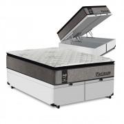 Cama Box Baú King Branca + Colchão de Molas Ensacadas - Sealy - Platinum - 193x203x74cm