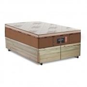 Cama Box Baú Queen Rústica + Colchão de Molas Ensacadas - Comfort Prime - New Imperador - 158x198x75cm