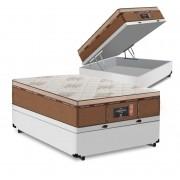 Cama Box Baú Viúva Branca + Colchão de Molas Ensacadas - Comfort Prime - New Imperador - 128x188x75cm